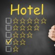 Thumbs up hotel rating two stars — Stock Photo #51534747