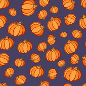Halloween Pumpkin Party Pattern — Stock Vector