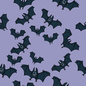 Halloween Bat Party Pattern — Stock Vector