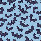 Halloween Bat Party Pattern — ストックベクタ
