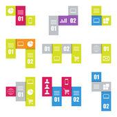 Infographic moderne sjablonen. strepen voor banners, zakelijke achtergronden, presentaties. — Stockvector