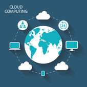 Cloud Computing vector illustration. — Stock Vector