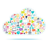 Cloud Computing color vector illustration. — Vector de stock