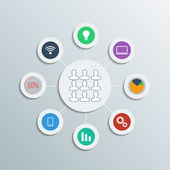 Web icons illustration on gray background. — 图库矢量图片