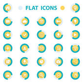 Flat design vector illustration icons set for web. — Stock Vector