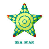 Sea Star color vector illustration. — 图库矢量图片