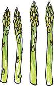 Asparagus stems — Stock Vector