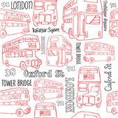 London bus — Stock Vector
