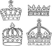 Collection of crowns — Stock Vector