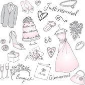 Wedding illustration — Stock Vector