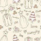 Wedding  seamless — Stock Vector