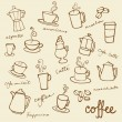 Coffee doodles icons — Stock Vector #47902943