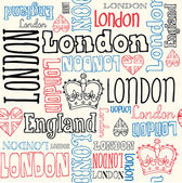 London typography seamless — Stock Vector