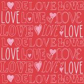 Love Valentines doodle — Stock Vector