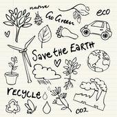 Eco doodles — Stock Vector