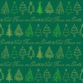Christmas trees in row — Stock Vector