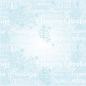 Kerstmis woorden & bomen — Stockvector