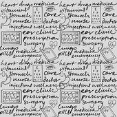 Medicine icons & words — Stock Vector