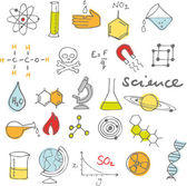 Science doodles — Vector de stock