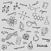 Science icons — Stok Vektör