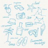 Letní dovolená — Stock vektor
