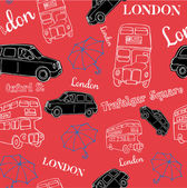 London bus and black taxi — Stock Vector