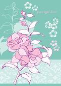 Rose flower — Stock Vector