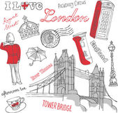London icons doodles — Stock Vector