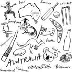 Australian doodles — Stock Vector #48659349