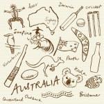 Australian doodles — Stock Vector #48659353