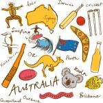 Australian doodles — Vecteur