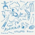 Australian doodles — Stock Vector #48659363