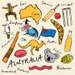Australian doodles — Stock Vector #48659367