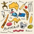 Australian doodles — Stockvektor