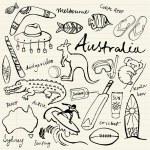 Australian doodles — Stock Vector #48659375