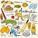 Australian doodles — Stock Vector #48659377