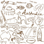 Australian doodles — Stock Vector #48659383
