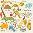 Collection of Australia doodle — Stock Vector #48659391