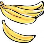 Bunch of bananas — Stock Vector