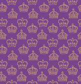 Purple crowns pattern — Stock Vector