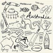 Australian doodles — Stock Vector