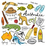 Collection of Australia doodle — Stock Vector
