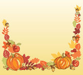 Thanksgiving autumn frame — Stock Vector