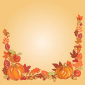 Thanksgiving autumn frame — Stockvektor