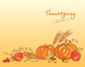 Thanksgiving autumn background — Stock Vector