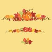 Thanksgiving autumn background — Stock Vector