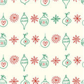 Christmas balls seamless pattern — Stock Vector