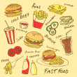 Постер, плакат: Fast food set