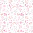 Tea and cakes pattern — Stock Vector #48661683