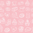 Tea and cakes pattern — Stock Vector #48661721